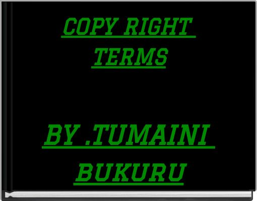 COPY RIGHT TERMS