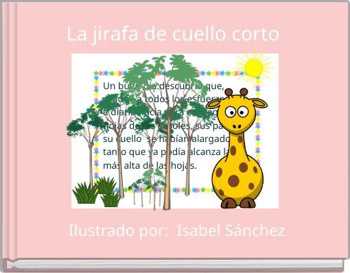 La jirafa de cuello corto