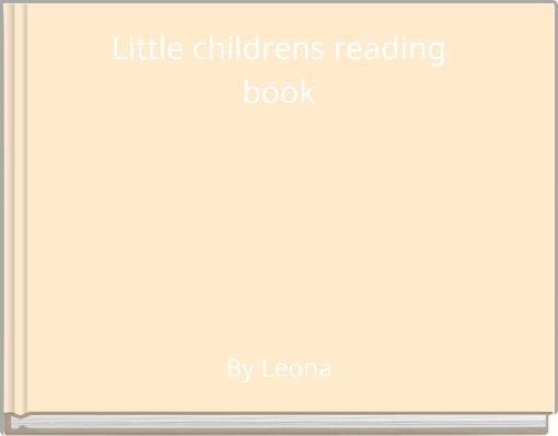 Little childrens readingbook