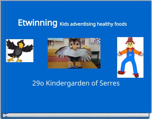 Etwinning Kids adverdising healthy foods