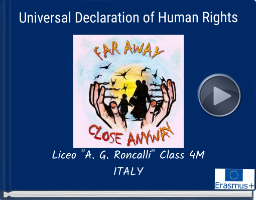 Book titled 'Universal Declaration of  Human Rights'