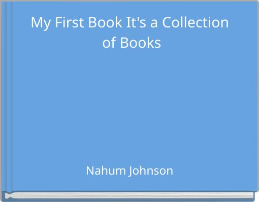 My First Book It's a Collection of Books