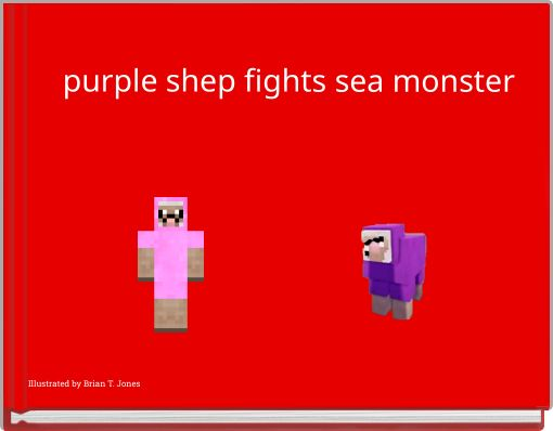 purple shep fights sea monster