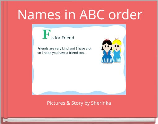 Names in ABC order