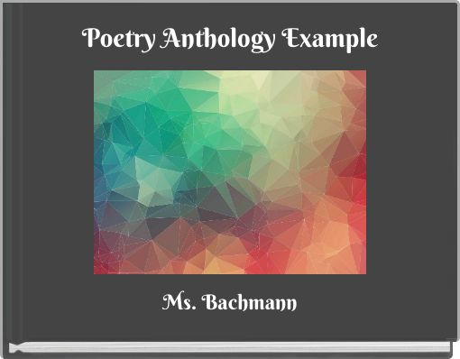 Poetry Anthology Example