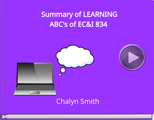 Book titled 'Summary of LEARNINGABC's of EC&I 834'