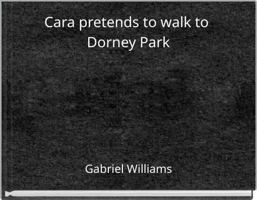 Cara pretends to walk to Dorney Park