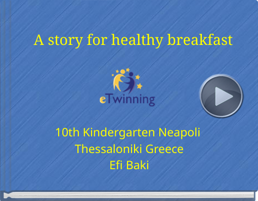 Book titled 'A story for healthy breakfast'