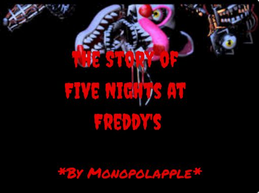 The Story Of Five Nights At Freddy S Free Stories Online Create Books For Kids Storyjumper