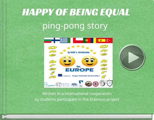 Book titled 'HAPPY OF BEING EQUALping-pong story'