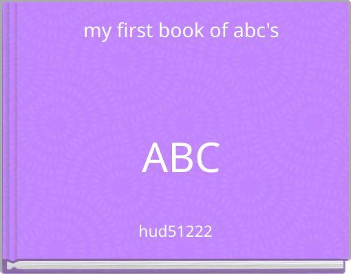 my first book of abc'sABC