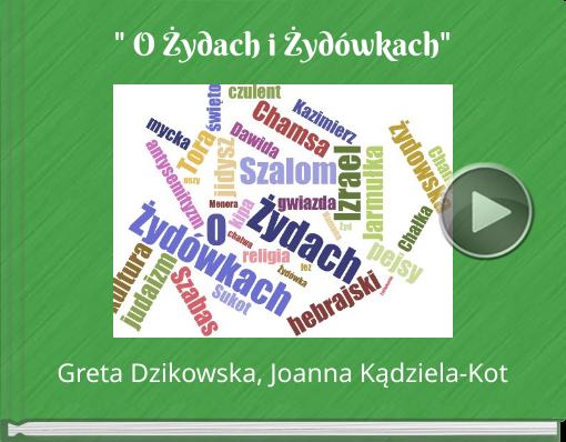 Book titled '' O Żydach i Żydówkach''