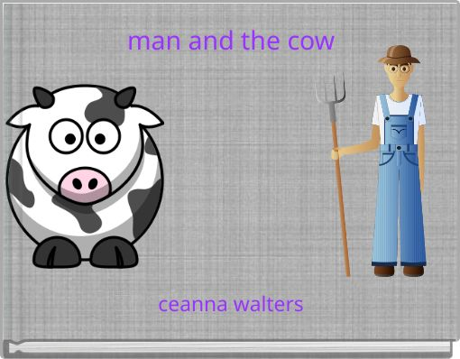 man and the cow