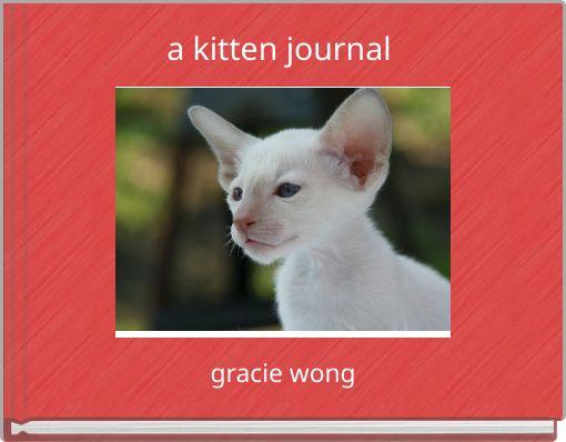 a kitten journal