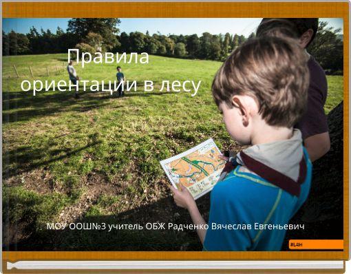 Правила ориентации в лесу