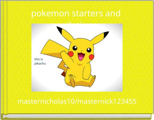 pokemon starters and evilotions