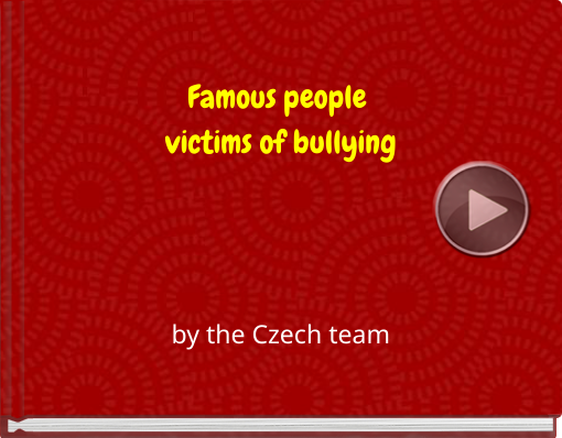 Book titled 'Famous people victims of bullying'