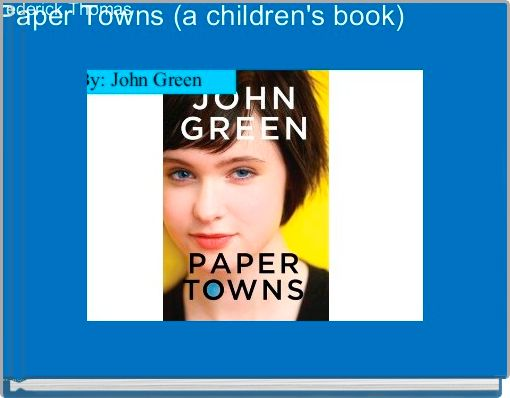 paper towns book online free pdf