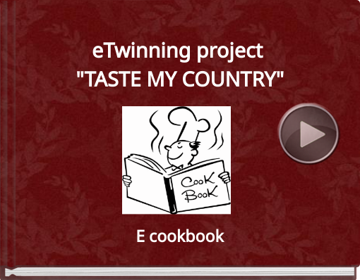 Book titled 'eTwinning project 'TASTE MY COUNTRY''