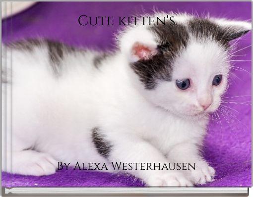 Cute kitten's