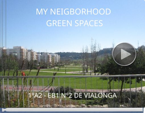Book titled 'MY NEIGBORHOOD GREEN SPACES'