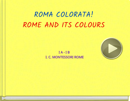 Book titled 'ROMA COLORATA!ROME AND ITS COLOURS'