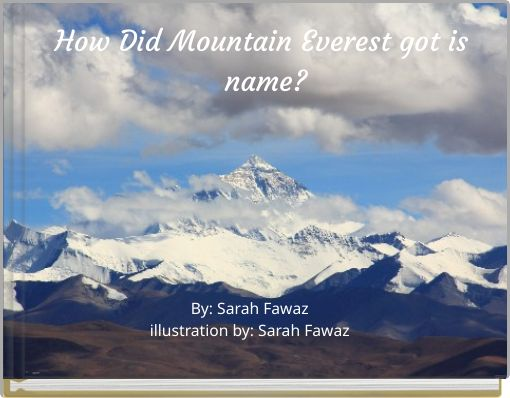 How Did Mountain Everest got is name?