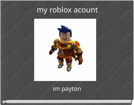 my roblox acount