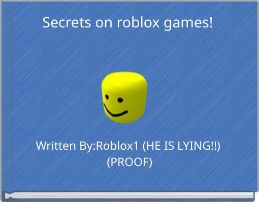 Secrets on roblox games!