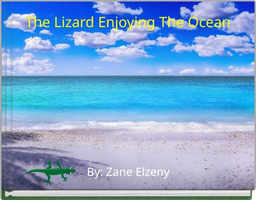 The Lizard Enjoying The Ocean
