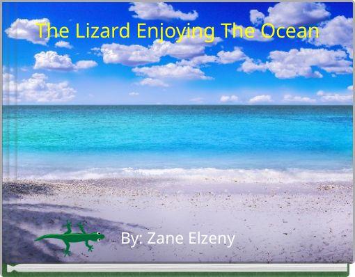 The Lizard Enjoying The Ocean
