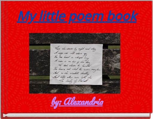 My little poem book