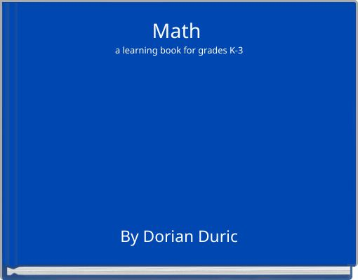 Math a learning book for grades K-3