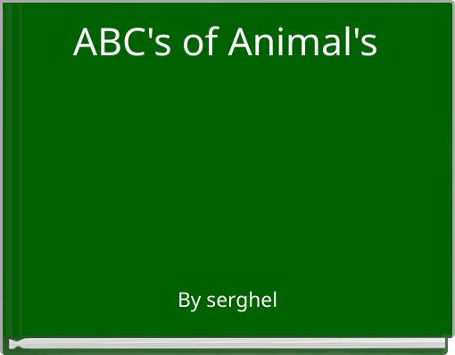 ABC's of Animal's