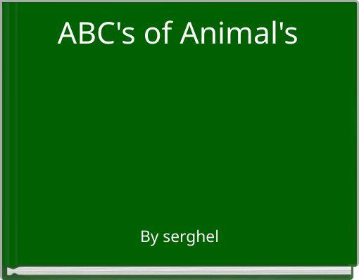 ABC's of Animal's