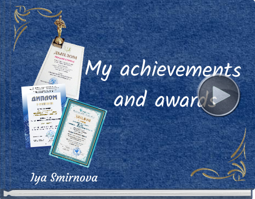 Book titled 'My achievements and awards'