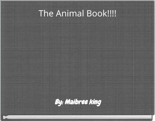 The Animal Book!!!!