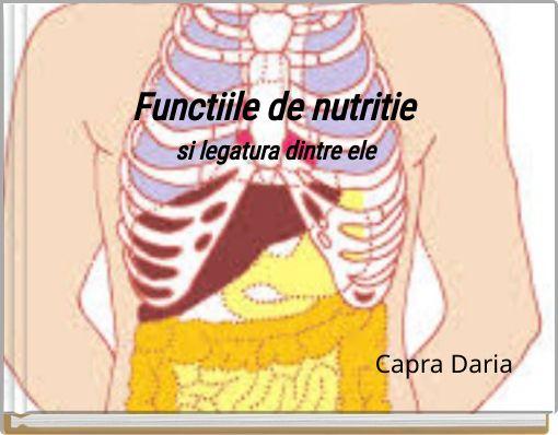 Functiile de nutritie si legatura dintre ele