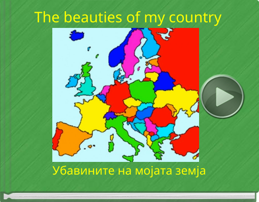 Book titled 'The beauties of my country'