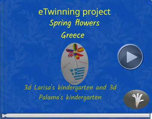 Book titled 'eTwinning projectSpring flowersGreece'