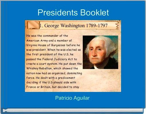 Presidents Booklet