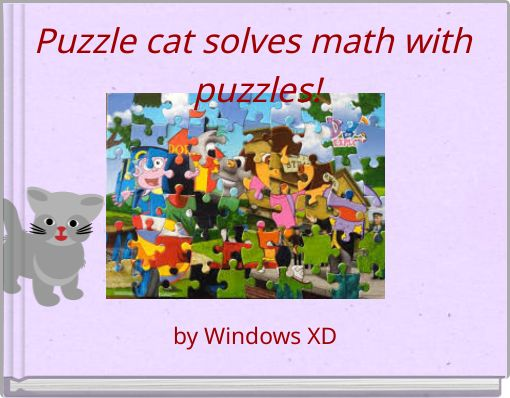 Puzzle cat solves math with puzzles!