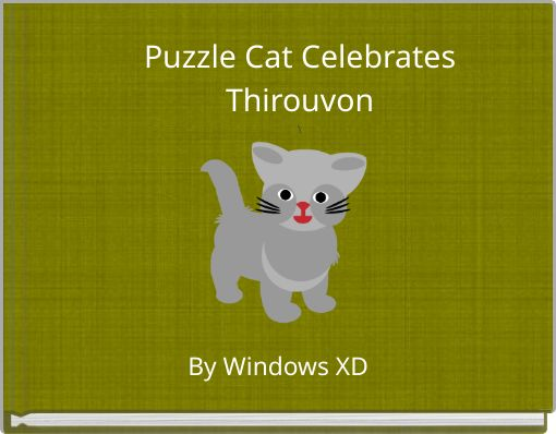 Puzzle Cat CelebratesThirouvon\