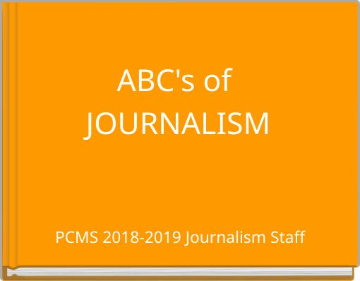 ABC's of JOURNALISM