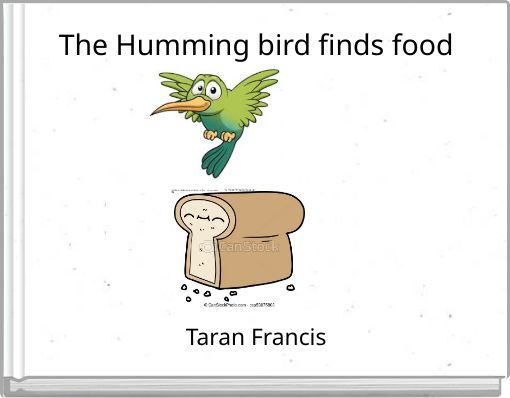 The Humming bird finds food