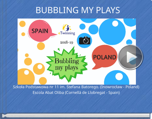 Book titled 'BUBBLING MY PLAYS'