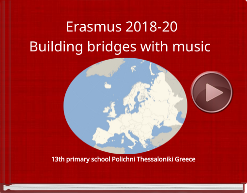 Book titled 'Erasmus 2018-20Building brigies with music'