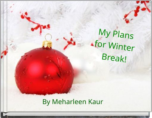 My Plans for Winter Break!