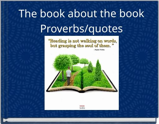 The book about  the bookProverbs/quotes