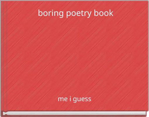 boring poetry book
